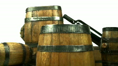 Wine Kegs Stock Footage