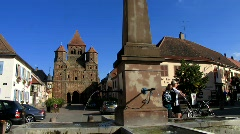 France Alsace Marmoutier cathedral Stock Footage