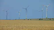 Stock Video Footage of Windfarm