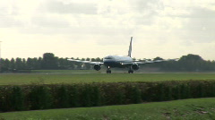 HD1080i Passenger united airlines airplane jetliner. Take off. - stock footage