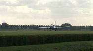 HD1080i Passenger transavia airplane jetliner. Take off. Stock Footage