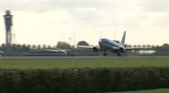 HD1080i Passenger KLM airplane jetliner. Take off. Stock Footage