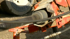 Agriculture, tractor PTO to auger to seed bin Stock Footage