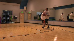 People playing basketball - stock footage