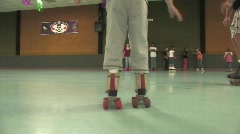 Learning to rollerskate Stock Footage
