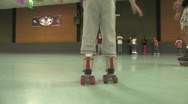 Stock Video Footage of Learning to rollerskate
