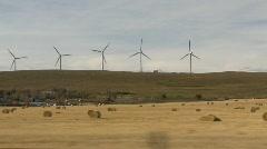 Drive plate, prairie, wind turbines, #2 Stock Footage