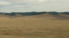 Drive plate, prairie fields Stock Footage