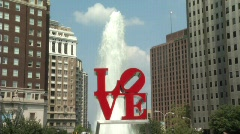 Love Park Philadelphia - stock footage