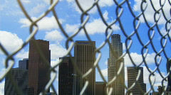 Fenced In Los Angeles Time-lapse Stock Footage