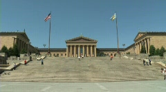 Philadelphia Art Museum - stock footage