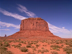 Red Mesa Monument Valley 320x240 Stock Footage