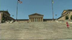 Philadelphia Art Museum 2 Stock Footage
