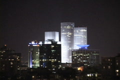 Tel Aviv Night Stock Footage