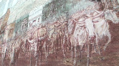 Chisolm trail mural Stock Footage