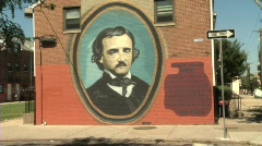 Edgar Allen Poe - stock footage