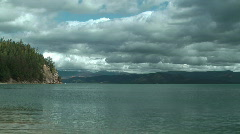 Baikal lake, Chivirkuy Bay Stock Footage
