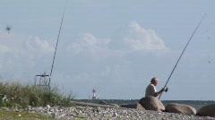 Fisherman-Lighthouse-Kiel-Summer-Archive - stock footage