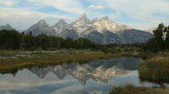 Grand Tetons National Park Reflection in Lake Stock Footage