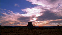 Monument Valley Mesa Sunset Clouds HD Stock Footage
