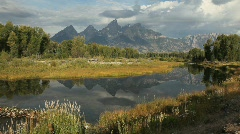 Grand Tetons National Park Reflection in Lake - stock footage