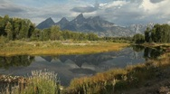 Stock Video Footage of Grand Tetons National Park Reflection in Lake