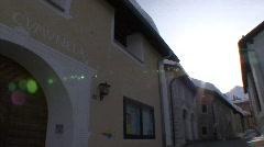 Pan engadin house madulain Stock Footage