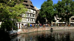 Strasbourg in Petite France, Alsace France Stock Footage