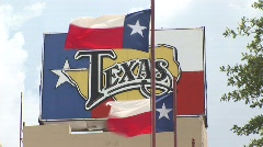 Texas flags Stock Footage