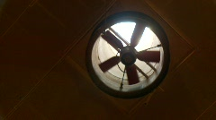 Slow spinning fan Stock Footage