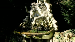 Water fountain with sculpture Stock Footage