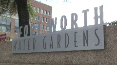Water garden in Fort Worth Stock Footage
