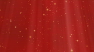 Looped Lights And Stars Background (Red) Stock Footage