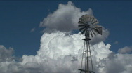 Windmill Cloud Time Lapse Stock Footage