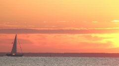 Sailboat: Chesapeake Bay Stock Footage
