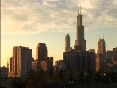 Chicago Skyline1 Stock Footage
