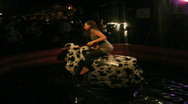 Stock Video Footage of mechanical bull P1040866