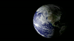 Planet earth rotating on black - stock footage