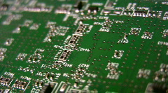 Technology circuit scrolling angle Stock Footage