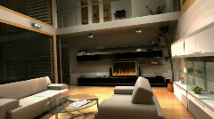Living Room TV 2 Stock Footage