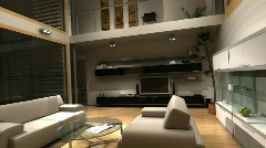Living Room TV 3 Stock Footage