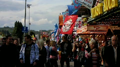 Stock Video Footage of Carnival Cannstatter Volksfest, Oktoberfest Stuttgart beer festival