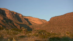 Sunset Timelapse at Dog Canyon Stock Footage