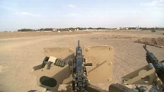 Turret view of .50 caliber machine gun Stock Footage