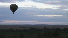 Masai Mara 06 Balloon Stock Footage