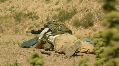 Special Operator on Rifle Range (HD) Stock Footage