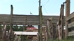 Stockyard in Fort Worth Stock Footage