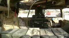 Inside Humvee (HD)m Stock Footage