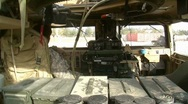 Stock Video Footage of Inside Humvee (HD)