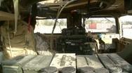 Stock Video Footage of Inside Humvee (HD)m